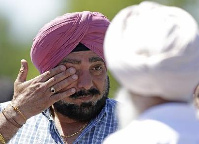 sikh man in tears