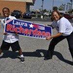 Hes too young to vote, but 8-year-old Buritius B.J. Brannon says that hes supporting Congresswoman Laura Richardson for re-election. ---Photo by KBGraphflixx