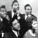 Early photo of The Miracles (Smokey and Claudette forefront)