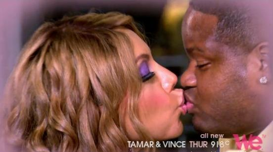 tamar &amp; vince (kissing)