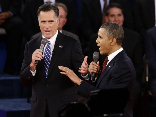 obama & romney (2nd debate)