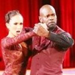 emmitt smith & dance partner on dwts (2012)