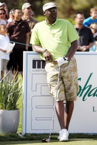 Michael Jordan competes in the final round of the 10th Annual Michael Jordan Celebrity Invitational hosted by ARIA Resort & Casino At Shadow Creek on April 3, 2011 in Las Vegas