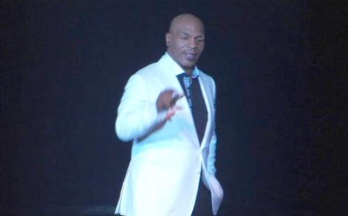 mike tyson on stage