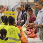 obamas help at dc food bank