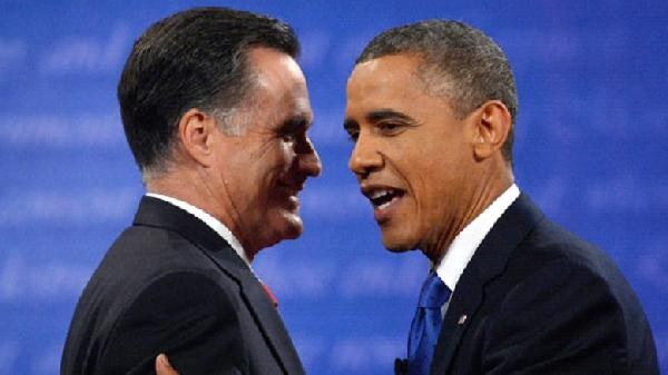 romney &amp; obama (cordial - smiling)