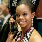 gabby douglas (on the phone)