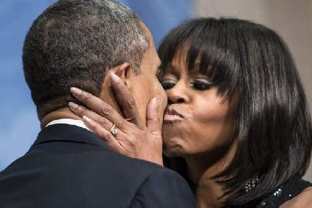 barack & michelle obama (bangs)