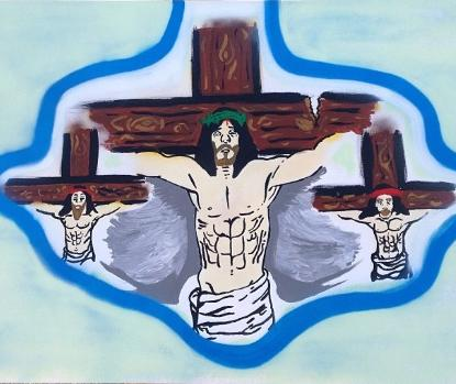 chris brown's jesus on the cross