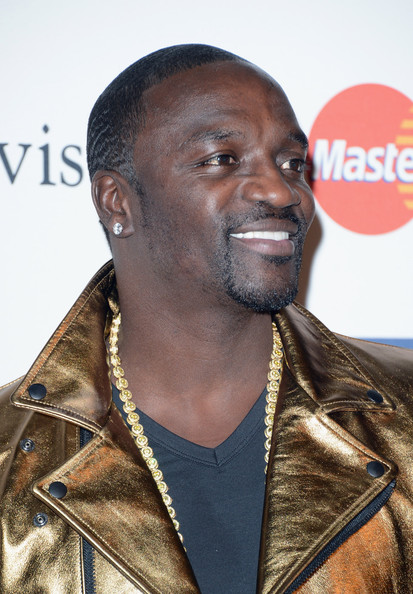 "Akon arrives at Clive Davis & The Recording Academy's 2013 Pre-GRAMMY Gala and Salute to Industry Icons honoring Antonio ""L.A."" Reid at The Beverly Hilton Hotel on February 9, 2013 in Beverly Hills"