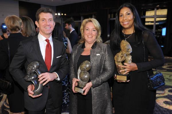 Alex Gorsky, Amy Towers and Cookie Johnson