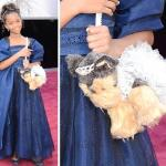 quvenzhane wallis &amp; doggy bag