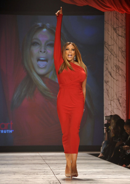 Wendy Williams wearing Kamali Kulture on the runway during The Heart Truth 2013 Fashion Show held at the Hammerstein Ballroom on February 6, 2013 in New York City