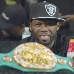50 cent & boxing championship belt