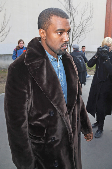 Kanye West seen at the Celine Fall-Winter 2013/2014 fashion show, part of the Paris Womens wear Fashion Week, held at the 'Tennis Club de Paris', in Paris