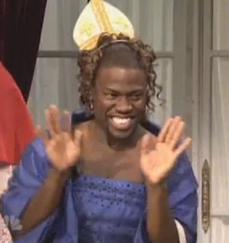 kevin hart (wears dress on 'snl')