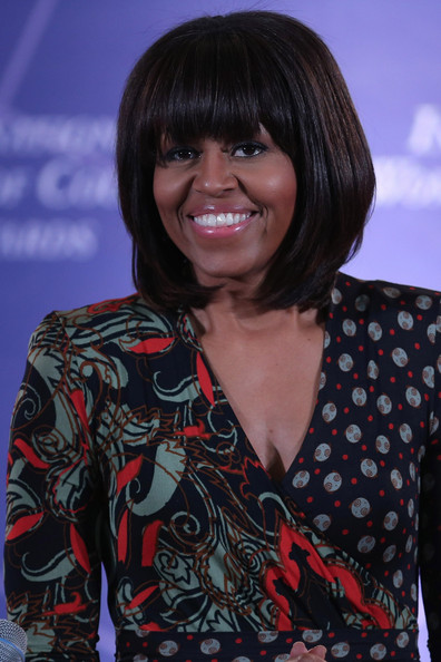 U.S. first lady Michelle Obama delivers remarks at the International Women of Courage Awards Ceremony at the State Department March 8, 2013 in Washington, DC.