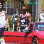 Scene from the Paramount release of Pain &amp; Gain with Dwayne &quot;The Rock&quot; Johnson, Anthony Mackie and Mark Wahlberg.