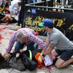 boston bombing (female bloodied)