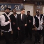 michael buble nyc subway