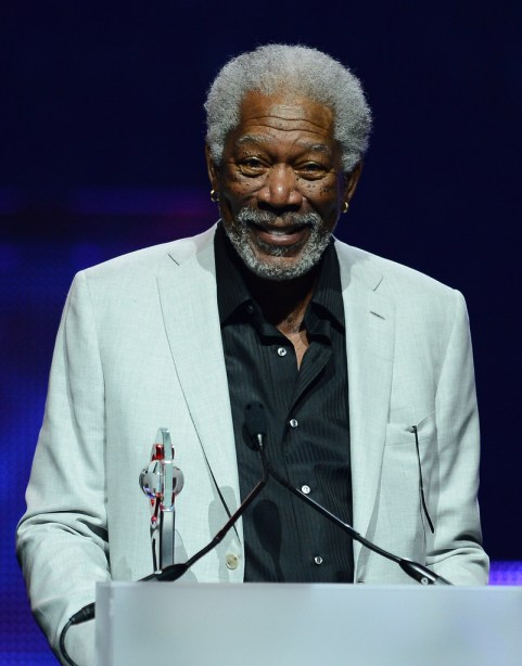 Actor Morgan Freeman accepts the Cinema Icon Award at the CinemaCon awards ceremony at The Colosseum at Caesars Palace during CinemaCon, the official convention of the National Association of Theatre Owners, on April 18, 2013 in Las Vegas