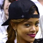 rihanna courtside