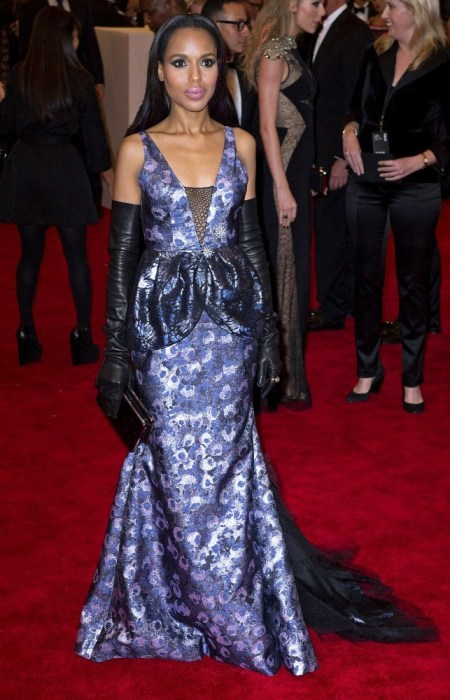 Spring 2013 Costume Institute Exhibition at Metropolitan Museum Gala: Kerry Washington (May 6, 2013)