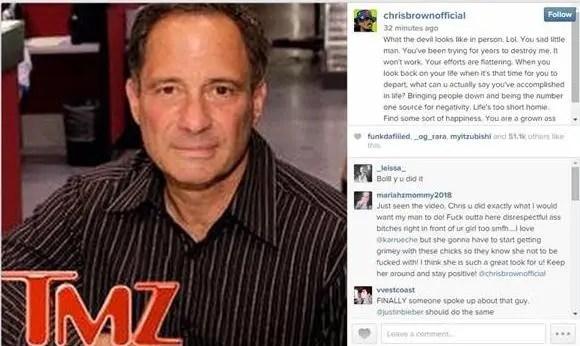 Chris Brown Calls TMZ Founder Harvey Levin The Devil