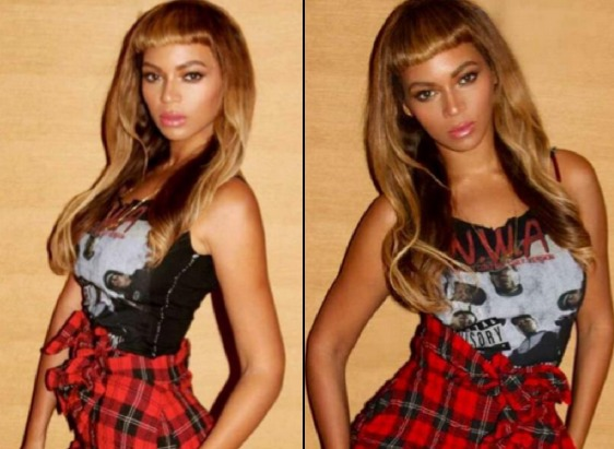 Beyonce Shows Off Her New Short Bangs