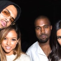 Kim Kardashian Tried to Avoid This Photo with Chris & Karrueche?