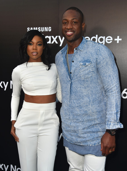 Actress Gabrielle Union and NBA player Dwyane Wade attend the Samsung Galaxy S6 Edge Plus and Note 5 Launch party on August 18, 2015 in West Hollywood, California.