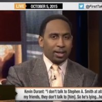 Watch Stephen A. Smith Threaten Kevin Durant: 'You Don't Wanna Make an Enemy Out of Me' (Full Video)