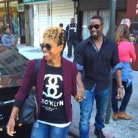 Newlyweds Michael Jai White and Gillian White Spotted in NYC (Snaps!)