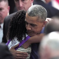 Watch 'Little Miss Flint' Run Into President Obama's Arms (Video)