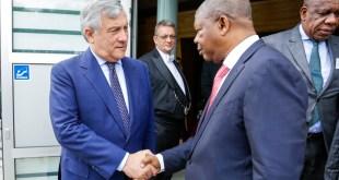 Antonio TAJANI, EP President meets with Joao LOURENCO, President of Angola- Leaving of the President Joao LOURENCO