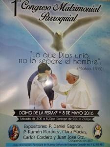 PRIMER CONGRESO MATRIMONIAL 7 y 8 DE MAYO.
