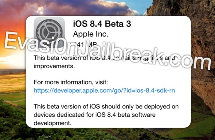 Jailbreak iOS 8.4 3rd Beta