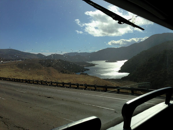 Pyramid Lake, CA from the megabus