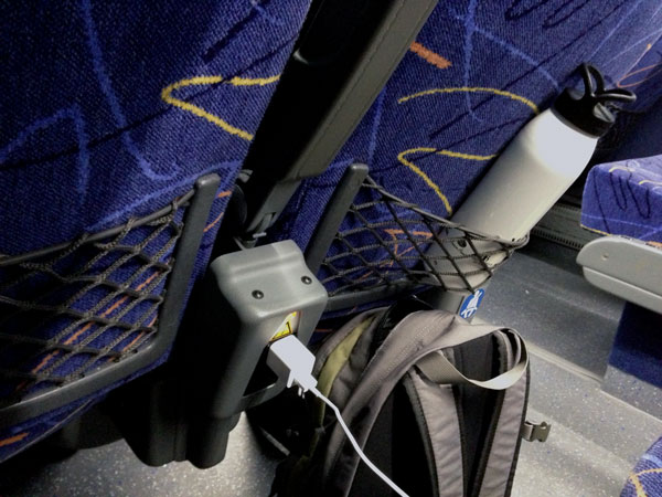 outlets on megabus let you charge your electronics