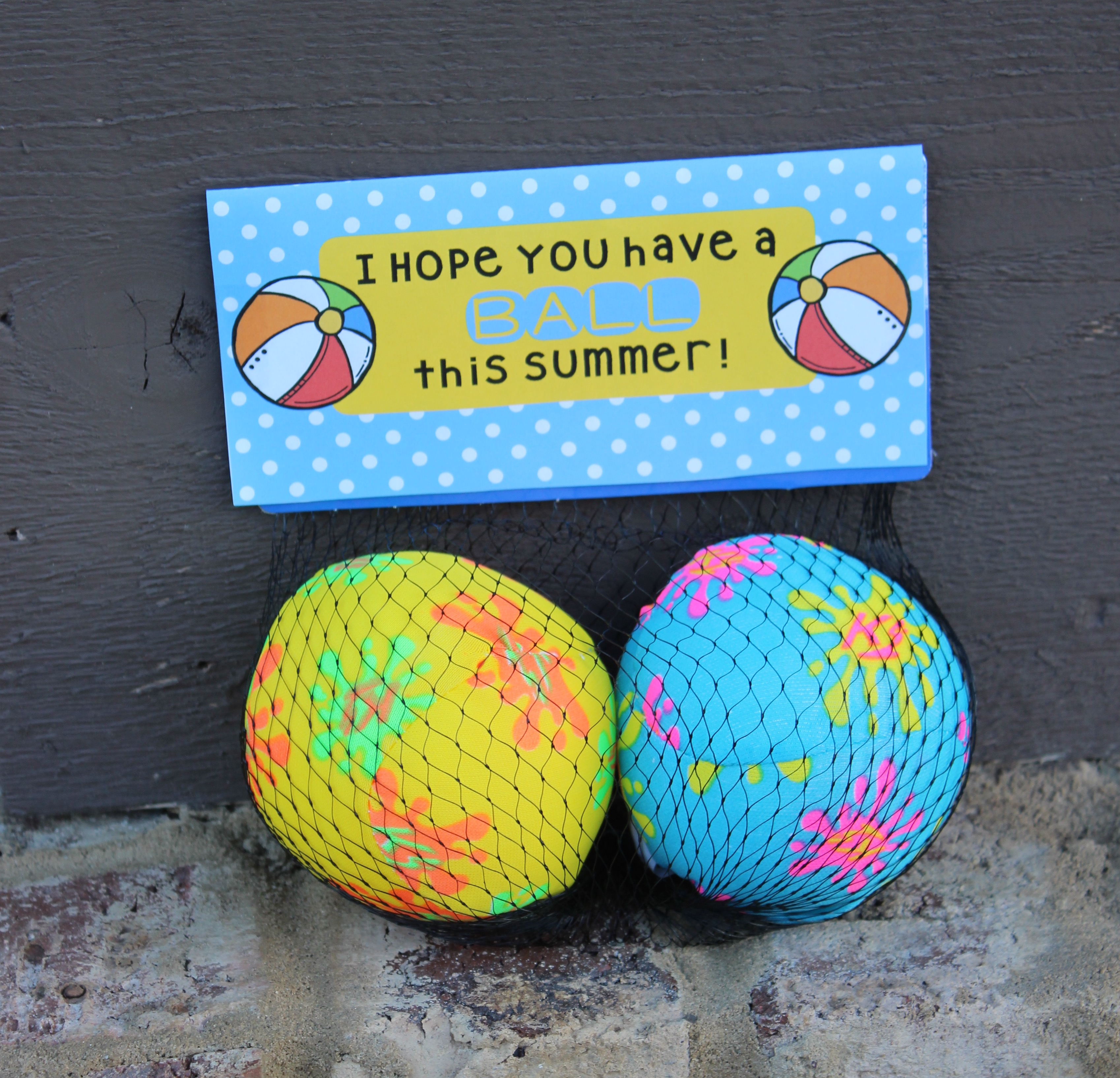 graphic about Have a Ball This Summer Printable known as Incorporate a Ball this Summer months! Totally free Conclusion of 12 months Present Tag Printable