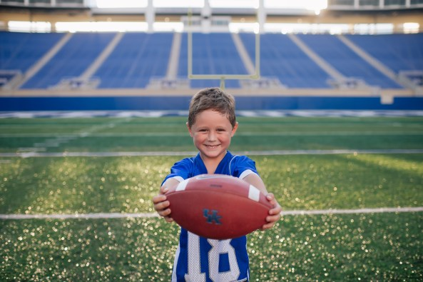 UK Luke with Football