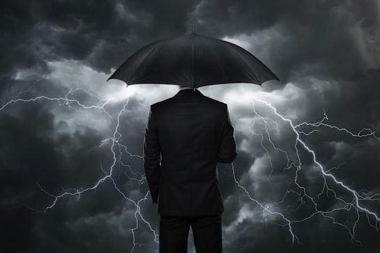 dark rain cloudy umbrella trouble dismal