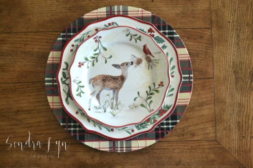 Plaid-Charger-with-BHG-Deer-Christmas-Salad-Plate-Sondra-Lyn-at-Home