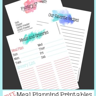 These free Meal Planning Printables are the first step in making meal planning a breeze!  | EverydayMadeFresh.com