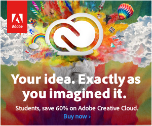 Students and teachers save 60% on Adobe Creative Cloud