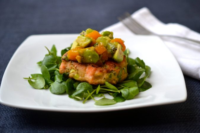 Asian Salmon Cakes with Tropical Salsa
