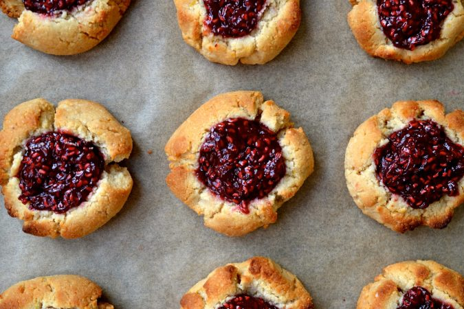Lemon & Raspberry Thumbprint Cookies