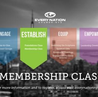 Membership Class – Sunday, June 5th