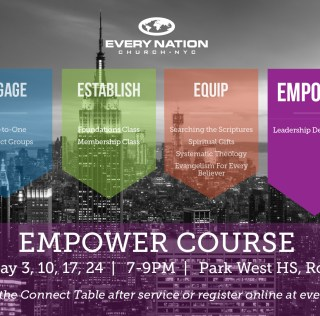 Empower Course – Begins Tuesday, May 3