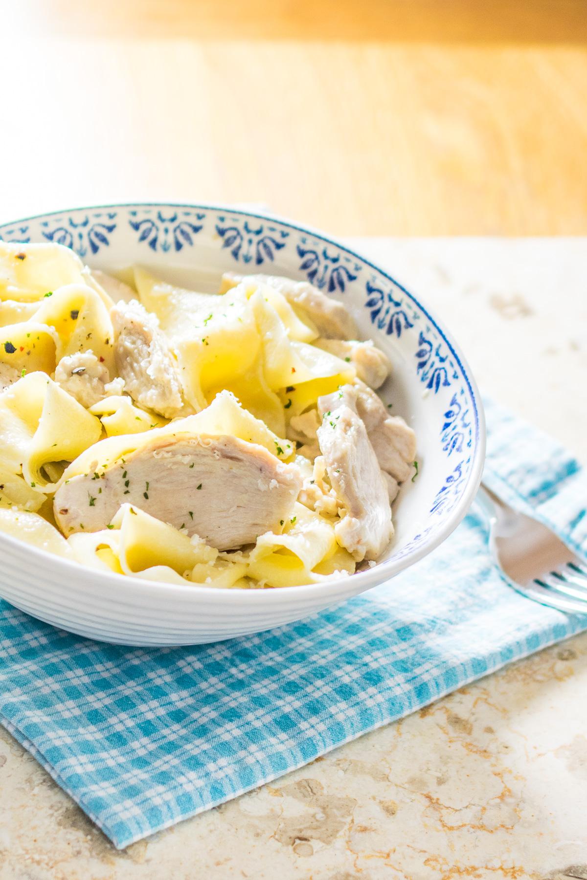 Creamy Parmesan Chicken Pappardelle-3